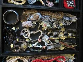 Bracelets, Necklaces, Rings, Watches, Jewelry of various types