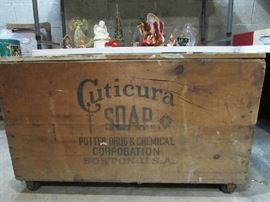 Antique Cuticura Soap Shipping Crate