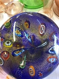 Spectacular Milifore Art Glass Vase Bottom side
