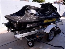 Sea-Doo for sale and also a 13 foot trailer.