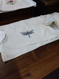 Dragonfly embroidered Table Runner