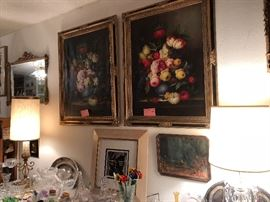 We have many beautiful oil paintings throughout the house in all types of style from still life, western, modern, pop art etc.
