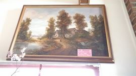 Another example of artist oil painting,this one by H.P. Uhlmann