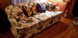 Beautiful Sofa and Butterfly Pillows