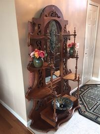 Ornate antique mirror