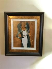 High fashion art print beautifully framed
