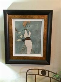 Companion high fashion art print also with lovely frame
