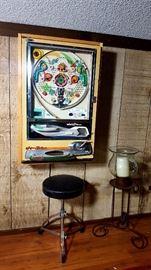 Pachinko Machine, Musician Stool, Large Hurricane Iron Candle Holder