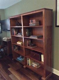 Custom Mesquite Wood Book Shelves by Robert Hensarling, Uvalde, Texas.