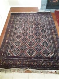 Afghan Camp Rug, Soviet occupation era. Handmade, 9'x6' wool on wool, pile carpet. Beautiful area rug!