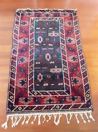 Dosamalta, Turkish pile carpet, wool on wool. 4'x6' with traditional designs and rich colors.