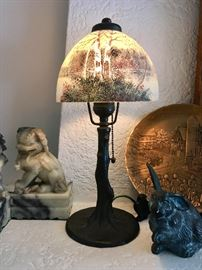 "Accent Lamp; Shade and Base Signed, ""Handel"""
