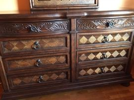 Tommy Bahama double dresser with mirror
