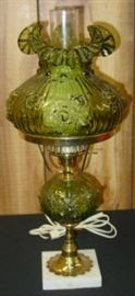 Fenton Glass Electric Lamp