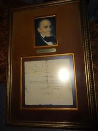 President John Quincy Adams Framed and Signed Document - Authentic