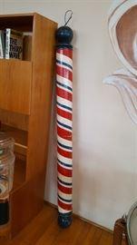 Painted Wood Barber Pole
