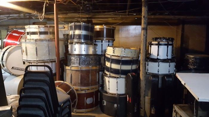 Lots of Musical Instruments Bass Drums