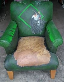 Ethan Allen/Lord of The Rings Childs Theme chair-hand painted and signed by Artist Judy Fuchness 2004
