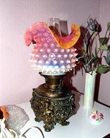Spectacular Bradley & Hubbard Kerosene Lamp!