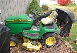 John Deere Tractor with Snowblower, Bagger & More!