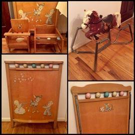Vintage Baby Furniture.   Vintage Bouncy Wonder Horse.