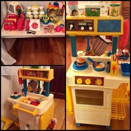 Vintage Fisher Price Kitchen Playset, Vintage Toys
