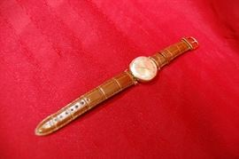 14K Yellow Gold Man's Bulova Accutron Vintage Wrist Watch