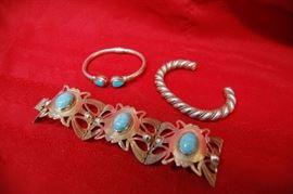 Sterling Silver Bracelets, Turquoise