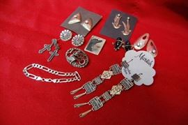 Assorted Sterling Silver Jewelry, Native American