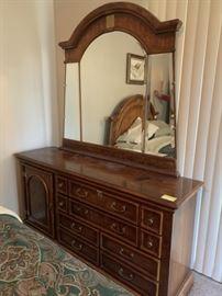 Burlwood Dresser & Bedroom Furniture