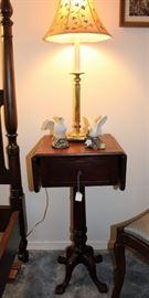 antique night stand drawers drop leaf sides