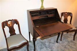 antique secretary open