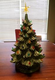really cool vintage ceramic lighted Christmas tree