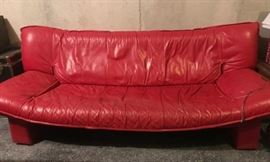 cool mid-century vibe leather sofa