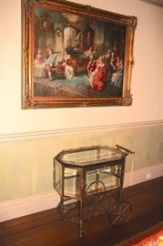 Fine Art and Tea Cart