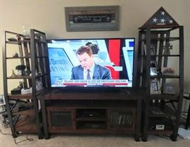 55 inch wide-screen TV & entertainment center