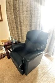 2 sage green leather rocker recliners