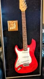 Aerosmith signed guitar in case