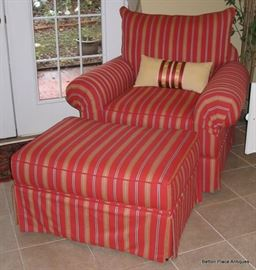 Fantastic Large Armchair with Ottoman