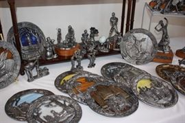 Michael Anthony Ricker collector pewter plates