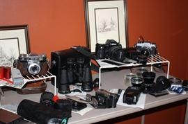 Vintage cameras, lenses, accessories