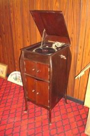 Antique Victrola in good working condition.