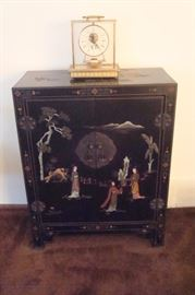 Oriental chest and Seth Thomas clock.