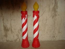 candle blow molds -always kept indoors in basement.... no signs of fading or weathering.