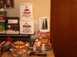 DEPT. 56 & MORE ITEMS --- ATTEND SALE TO SEE ALL THE ONE OF KIND ITEMS - MANY NEW WITH TAGS