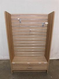 2 Sided Wood Display Cabinet on Casters
