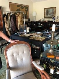Costume jewelry, Loads of leatherware including a mens full leather suit - Bell Bottom Custom made 1970's - Also vintage art roach clips...