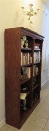 Bookcase, books, decorative items