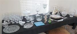 Crystal, glass, porcelain