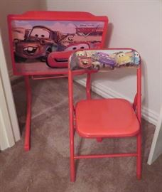 Disney Cars table and chair